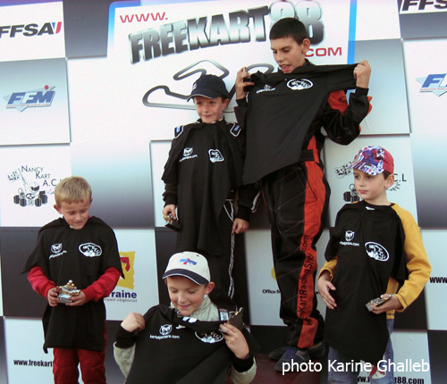Podium Minime et Minikart Course Club Mirecourt