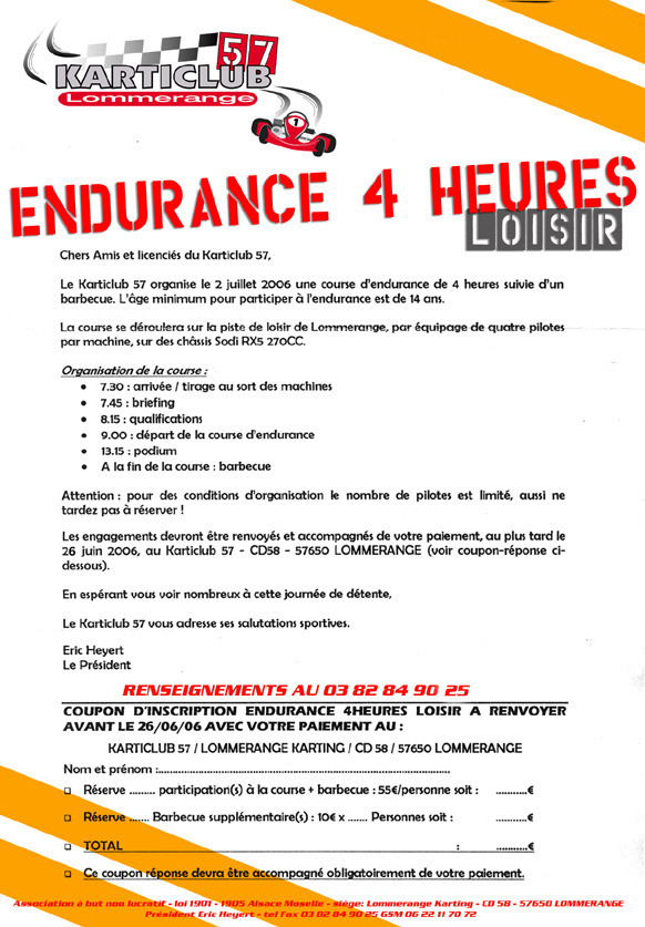 News karting 2006 - Www le palet com competitions coupes bulletins d inscriptions ...